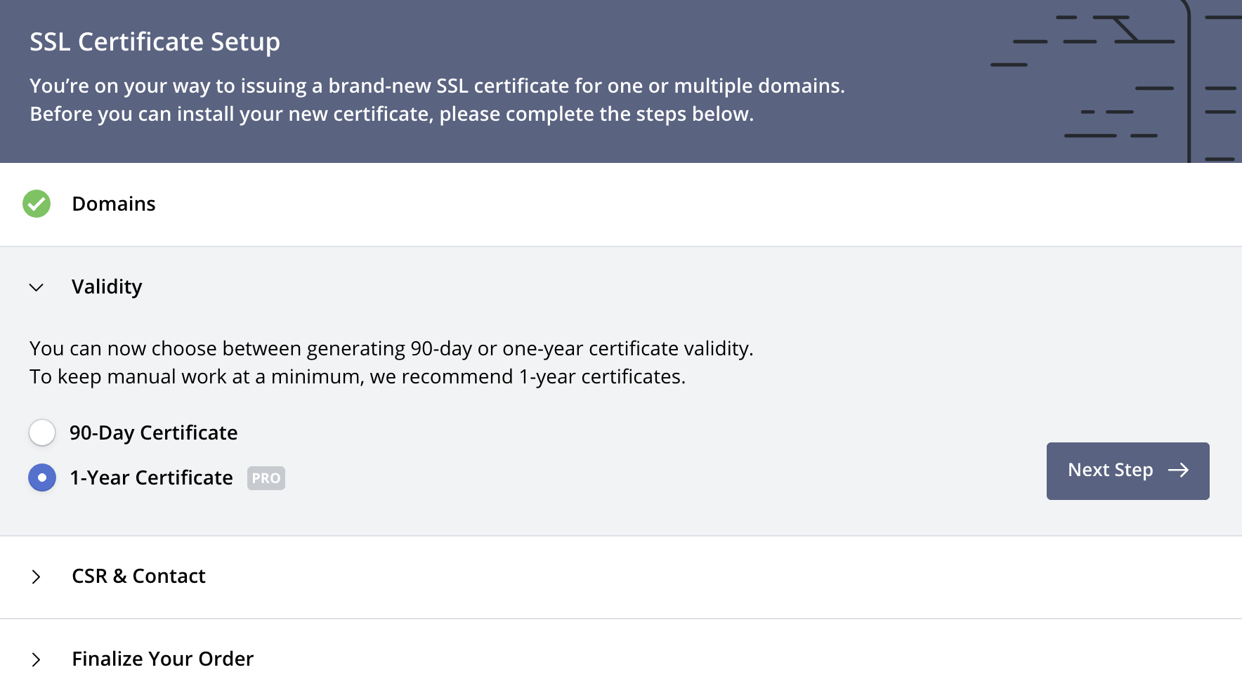 Create Certificate: Validity